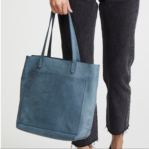 be3ec69d2 Madewell Handbags - Madewell Medium Transport Tote Blue